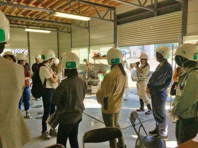 見学会:女性土木技術者による工事説明